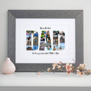 Personalised Photos Inside Dad Word Art